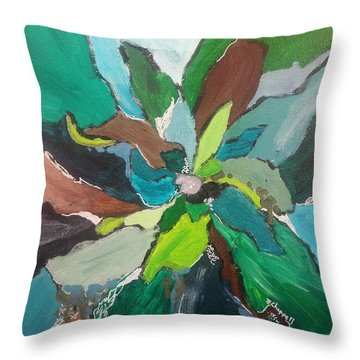 Blossom Throw Pillow by Becky Chappell
