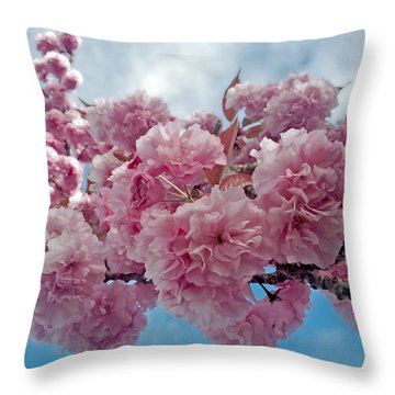 Blossom Bliss Throw Pillow by Gwyn Newcombe