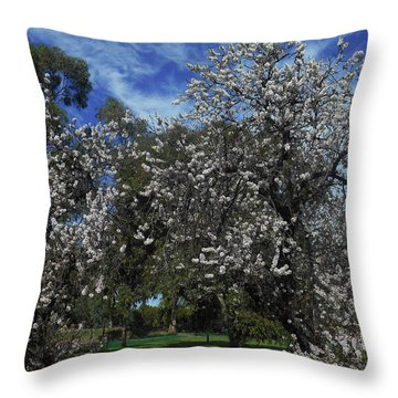 Throw Pillow featuring the photograph Blossom Bomb by Mark Blauhoefer