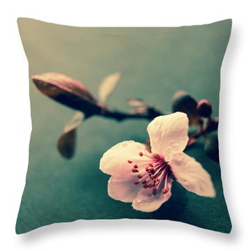 Blossom Throw Pillow by Caitlyn Grasso