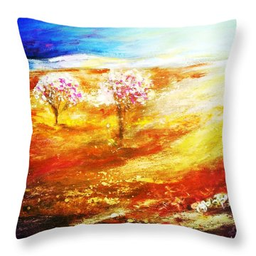 Blossom Dawn Throw Pillow