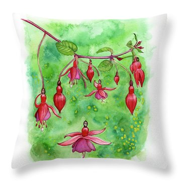 Blossom Fairies Throw Pillow