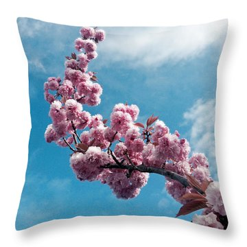 Blossom Impressions Throw Pillow by Gwyn Newcombe