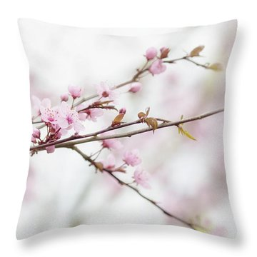 Throw Pillow featuring the photograph Blossom Pink by Rebecca Cozart