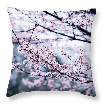 Throw Pillow featuring the photograph Blossoming Buds by Parker Cunningham