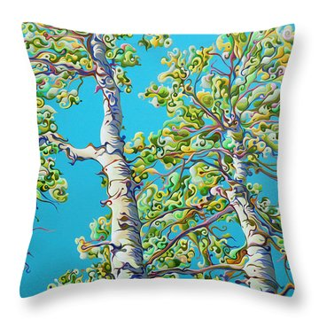 Blossoming Creativitree Throw Pillow