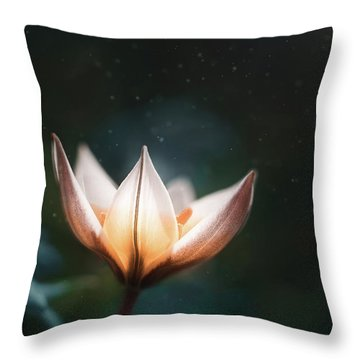 Blossoming Light Throw Pillow
