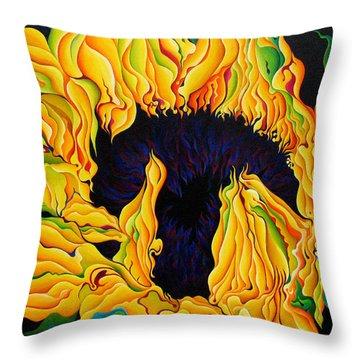 Blossomonious Yellow Trip Throw Pillow