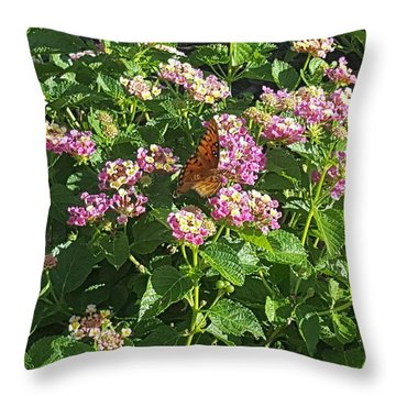 Blossoms And Wings #2 Throw Pillow by Rachel Hannah