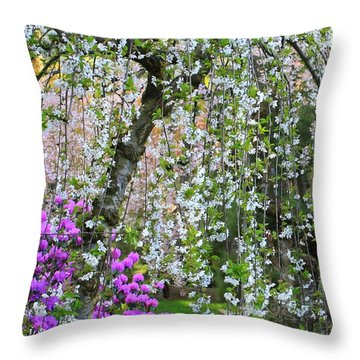 Blossoms Galore Throw Pillow by Carol Groenen