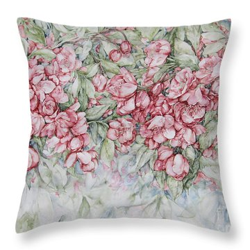 Blossoms Throw Pillow by Kim Tran