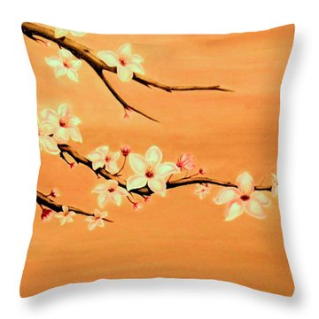 Blossoms On A Branch Throw Pillow