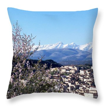 Blossoms With A View Throw Pillow