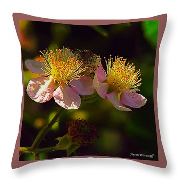 Blossoms.1 Throw Pillow