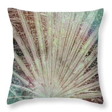 Blotch Palm Frond Throw Pillow