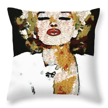 Blow Me A Kiss Marilyn Monroe In The Mix Throw Pillow