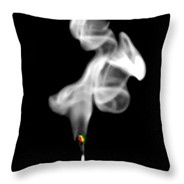 Throw Pillow featuring the photograph Blow Out by Diana Angstadt