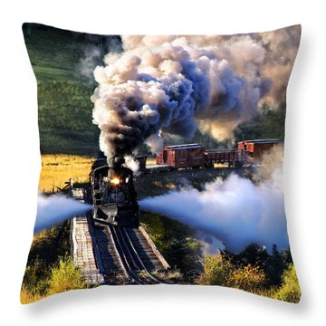 Throw Pillow featuring the photograph Blowdown On Lobato Trestle by Ken Smith