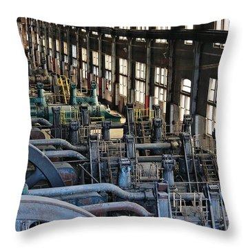 Blower Building Throw Pillow