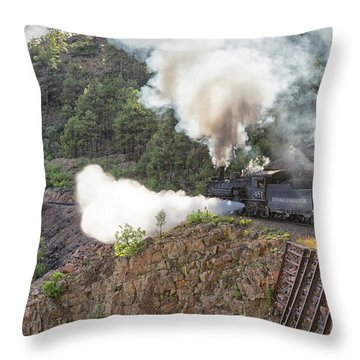 Blowing Down 481 Throw Pillow