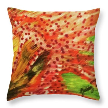 Walking Against The Wind Throw Pillow