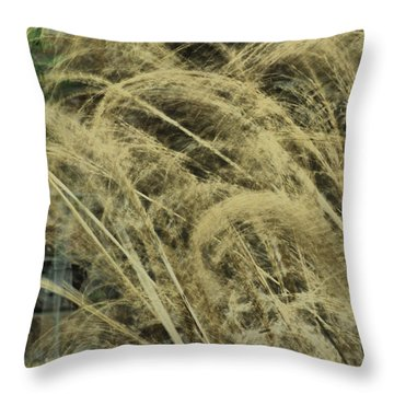 Throw Pillow featuring the photograph Blowing In The Wind by Rick Friedle