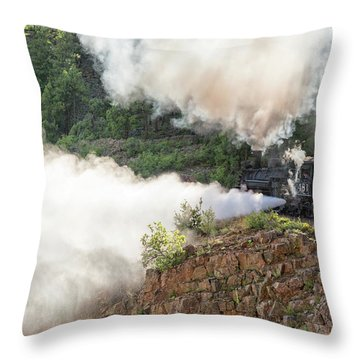 Blowing Off Steam Throw Pillow