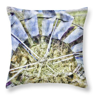 Blown Away Throw Pillow by Aliceann Carlton