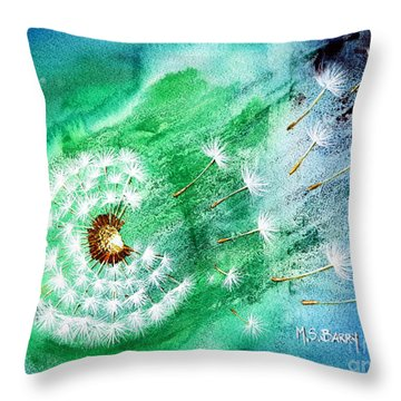 Blown Away Throw Pillow by Maria Barry