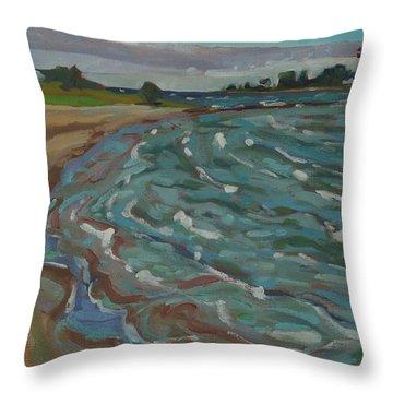 Blown Away Southampton Beach Throw Pillow
