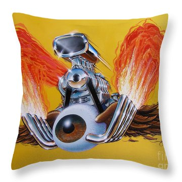 Throw Pillow featuring the painting Blown Eyeball by Alan Johnson