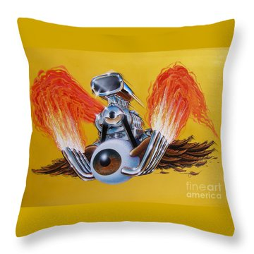 Blown Eyeball Throw Pillow