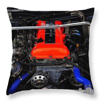 Blown Nissan Throw Pillow