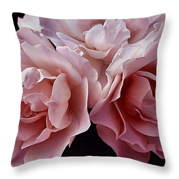 Blowsy Roses Throw Pillow