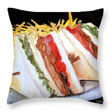 Blt Sandwich Throw Pillow