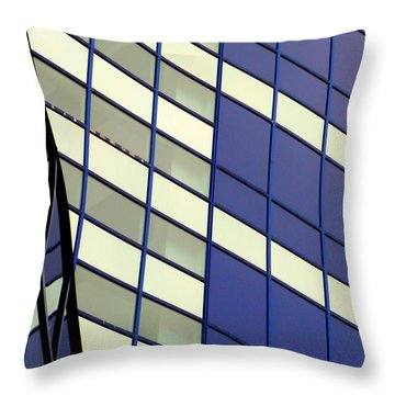 Blue 1114 Throw Pillow