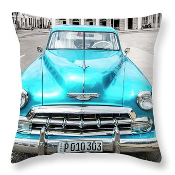 Blue 52 Throw Pillow