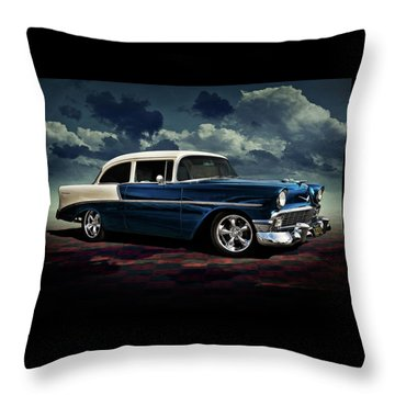Blue '56 Throw Pillow