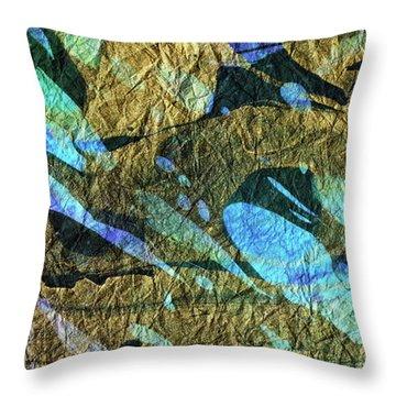 Blue Abstract Art - Deeper Visions 2 - Sharon Cummings Throw Pillow