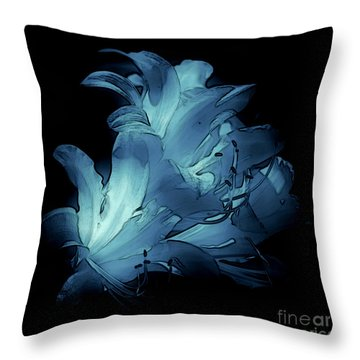 Blue Abstract No. 1 Throw Pillow