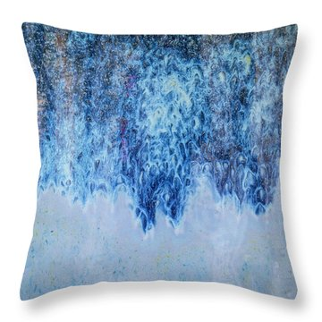 Throw Pillow featuring the photograph Blue Abstract One by David Waldrop