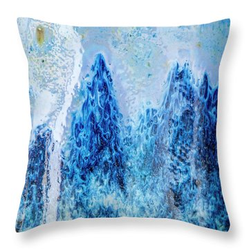 Throw Pillow featuring the photograph Blue Abstract Two by David Waldrop