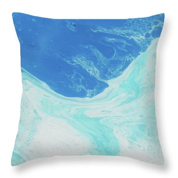 Throw Pillow featuring the painting Blue Abyss by Nikki Marie Smith
