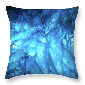 Throw Pillow featuring the photograph Blue Agate by Nicholas Burningham