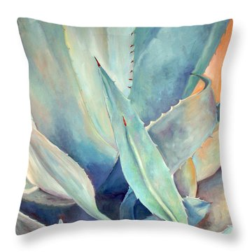 Blue Agave Family Throw Pillow