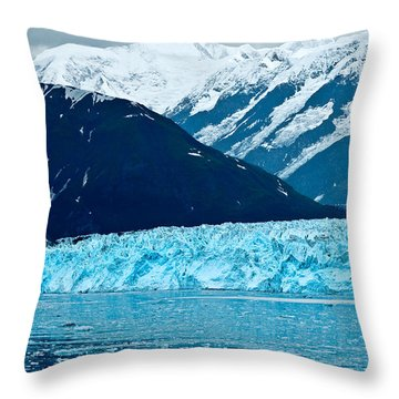 Blue Alaska Throw Pillow