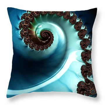 Blue Albania Throw Pillow