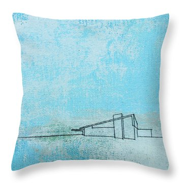 Blue Alexander White Mist Throw Pillow