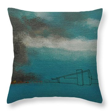 Blue Alexander With Brush Fire Throw Pillow by Stan  Magnan