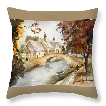 Blue Anchor Tavern Throw Pillow